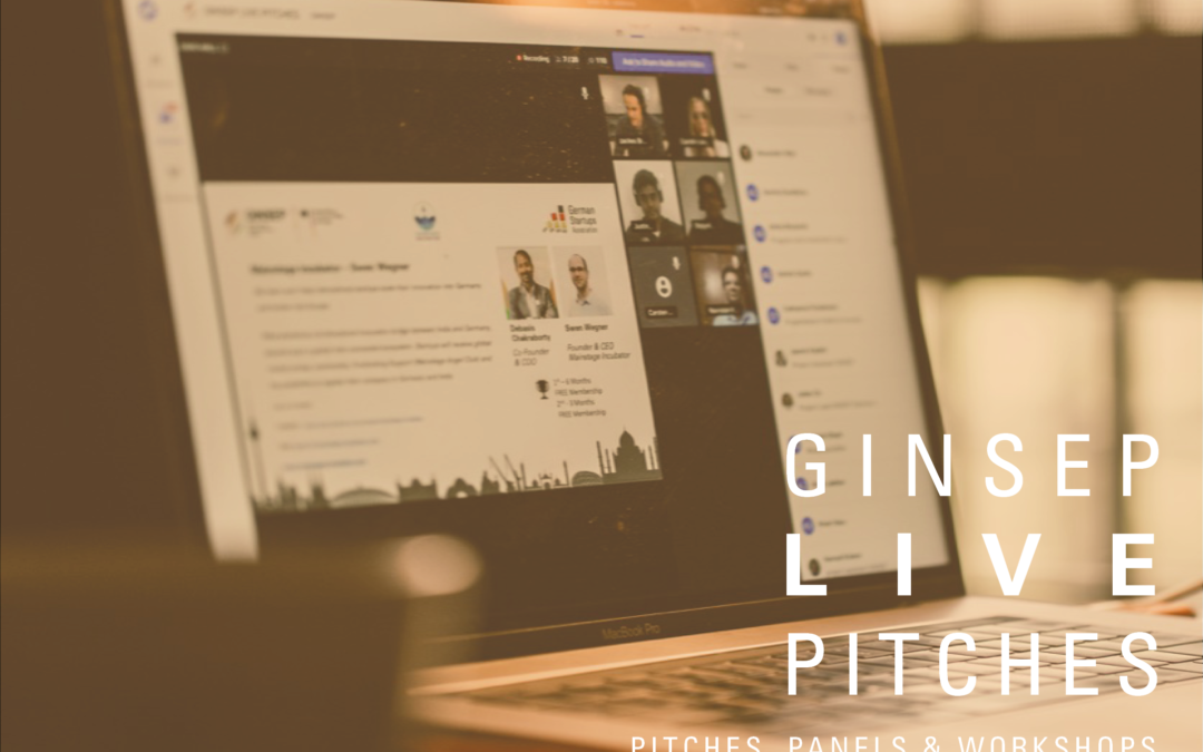 The GINSEP Live Pitches – Pitches, Panels, Workshop & Networking