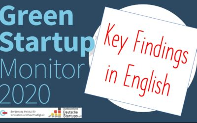 The Green Startup Monitor 2020: Green German Startups Are Looking For Funding