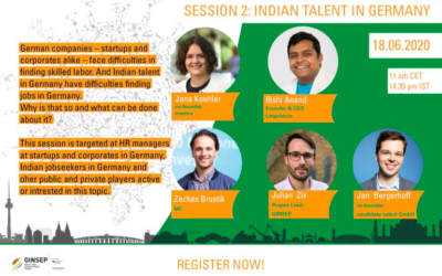 GINSEP ONLINE SERIES – Part 2: Indian Talent in Germany