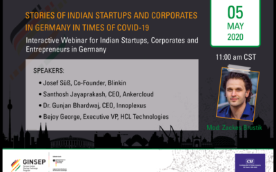 Stories of Indian Startups and Corporates in Germany in times of Covid 19
