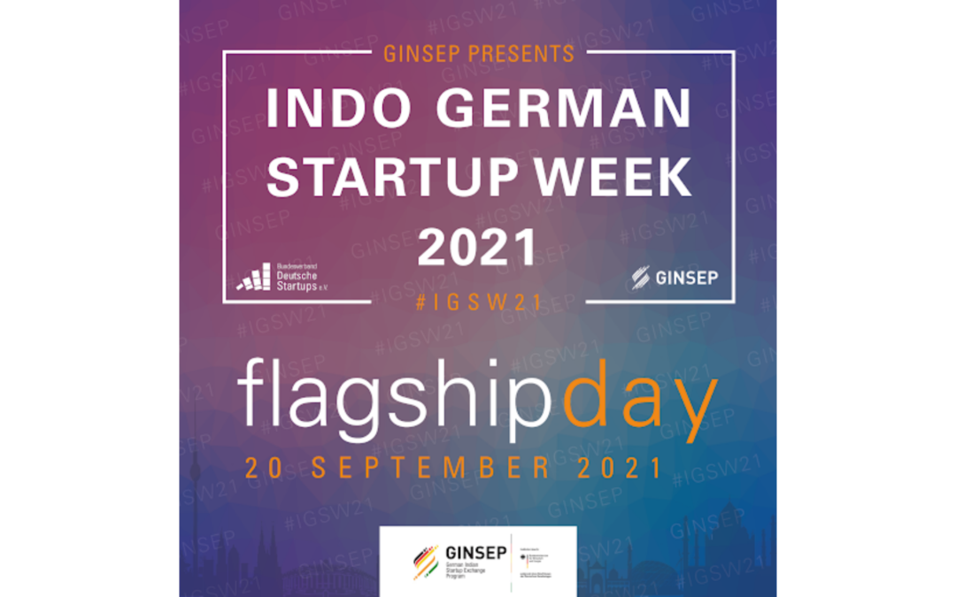 Topics to be discussed at Indo-German Startup Week 'Flagship Day': 20 September